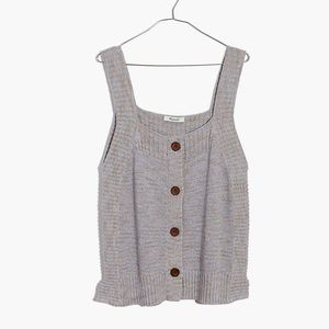 ✨NWT✨ madewell button front sweater tank